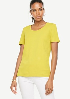 Pima Cotton Scoop Neck Tee