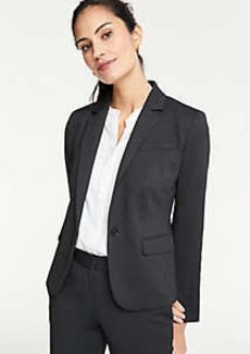 Ann Taylor Pindot One Button Blazer