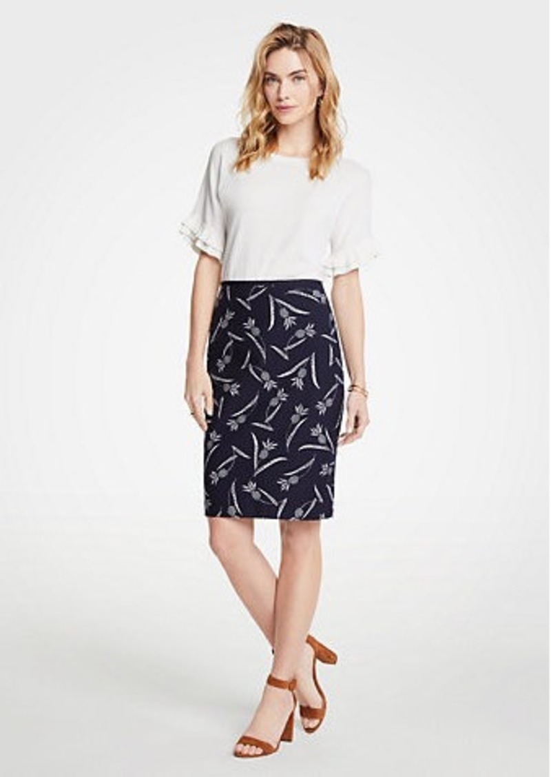 Ann Taylor Pineapple Pencil Skirt
