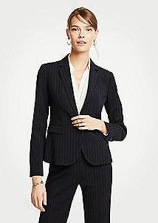 Ann Taylor Pinstripe One Button Blazer