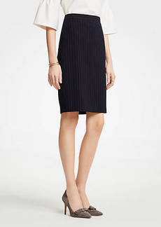 Ann Taylor Pinstripe Pencil Skirt