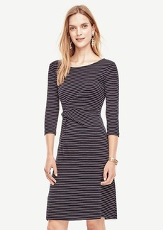Pinstripe Ponte Twist Dress