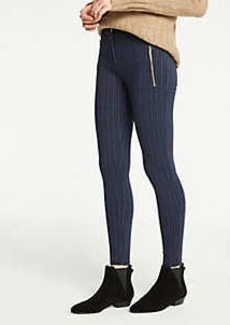 Ann Taylor Pinstripe Zip Pocket Leggings