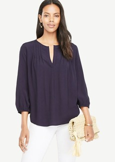 Pintucked Popover Blouse
