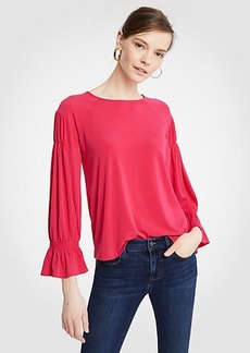 Ann Taylor Pintucked Sleeve Top