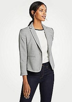 Ann Taylor Piped Flannel Blazer