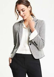 Ann Taylor Piped Herringbone Jacket