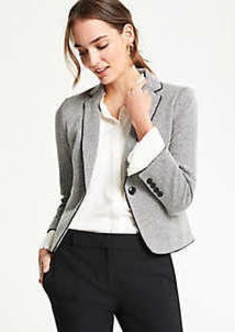 Ann Taylor Piped Herringbone Jacket