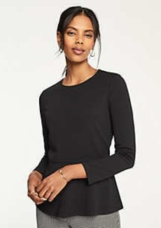 Ann Taylor Piped Peplum Top