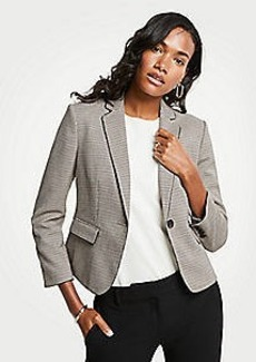 Ann Taylor Piped Plaid Blazer
