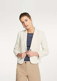 Ann Taylor Piped Textured Blazer