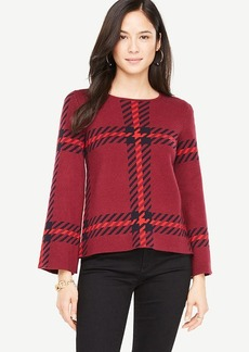 Plaid Bell Sleeve Sweater