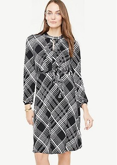 Plaid Blouson Sleeve Dress