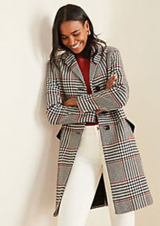 Ann Taylor Plaid Chesterfield Coat