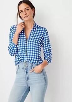 Ann Taylor Plaid Essential Shirt
