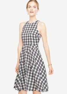Ann Taylor Plaid Flare Dress