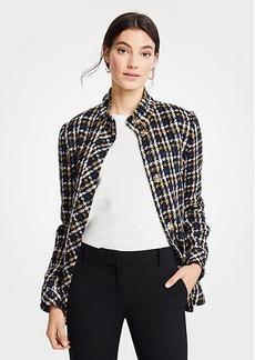 Ann Taylor Plaid Jacket