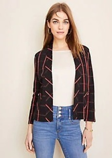 Ann Taylor Plaid Open Cardigan
