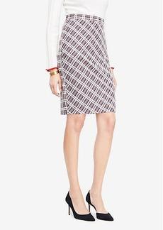 Ann Taylor Plaid Pencil Skirt