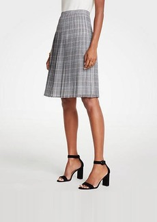 Ann Taylor Plaid Pleated Skirt