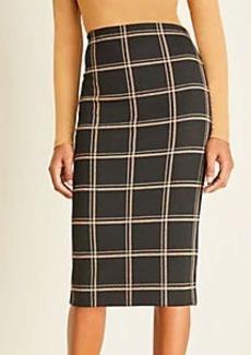 Ann Taylor Plaid Pull On Pencil Skirt