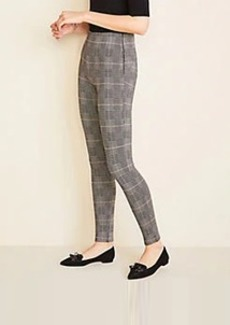 Ann Taylor Plaid Seamed Side Zip Leggings