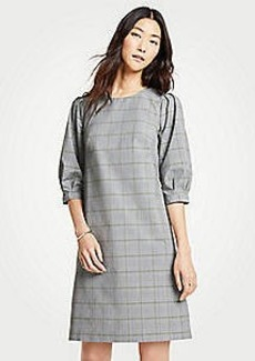 Ann Taylor Plaid Shift Dress