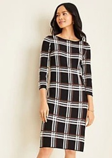 Ann Taylor Plaid Sweater Dress
