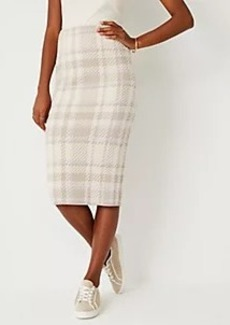 Ann Taylor Plaid Sweater Pencil Skirt
