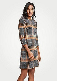 Ann Taylor Plaid Sweater Shift Dress