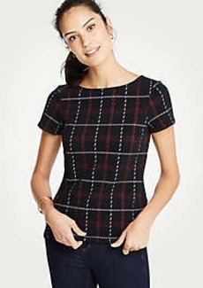 Ann Taylor Plaid Top
