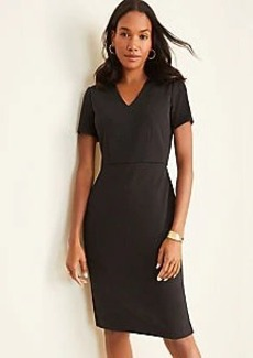 Ann Taylor Plaid V-Neck Sheath Dress