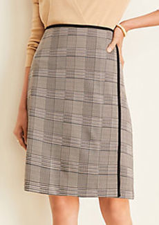 Ann Taylor Plaid Wrap Pencil Skirt