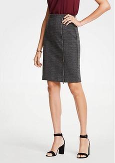 Ann Taylor Plaid Zipper Pencil Skirt