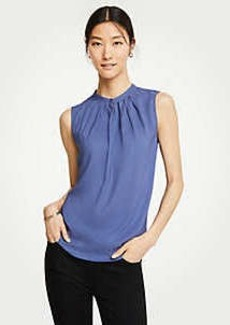Ann Taylor Pleat Neck Shell