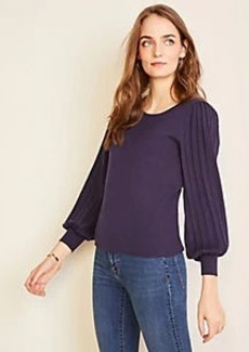 Ann Taylor Pleated Balloon Sleeve Sweater