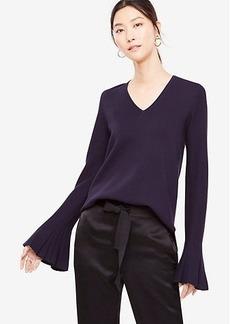 Pleated Bell Sleeve Sweater