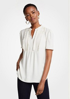 Ann Taylor Pleated Bib Popover