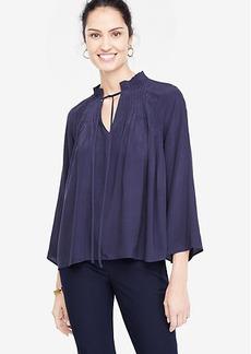 Ann Taylor Pleated Collar Blouse
