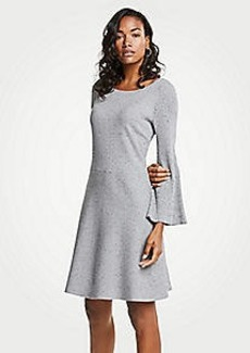 Ann Taylor Pleated Flare Sleeve Sweater Dress