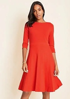 Ann Taylor Pleated Flare Sweater Dress