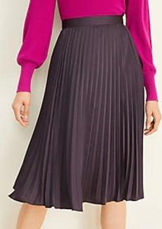Ann Taylor Pleated Midi Skirt