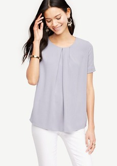 Pleated Mixed Media Top