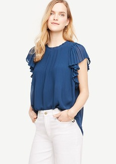 Ann Taylor Pleated Shoulder Blouse