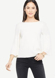 Pleated Sleeve Sweater
