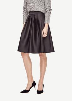Ann Taylor Pleated Taffeta Skirt