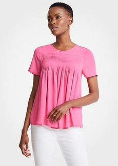 Ann Taylor Pleated Tee