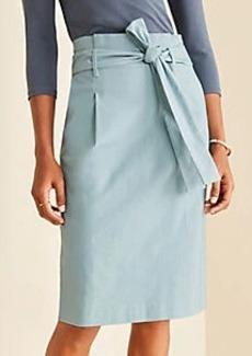 Ann Taylor Pleated Tie Waist Pencil Skirt