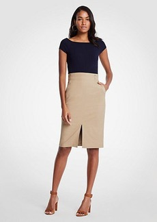 Ann Taylor Pleated Waist Pencil Skirt