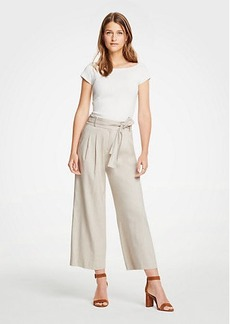 Ann Taylor Pleated Wide Leg Crop Pants